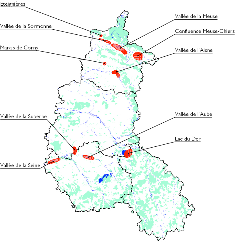Distribution of White Storks in Champagne-Ardenne © LPO (click for larger image)