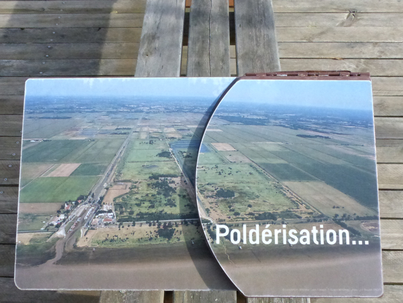 Panel showing aerial photo of the reserve © Ken Hall (click for larger image)